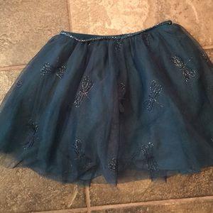 Zara Bottoms - Zara girls sz 5/6 teal green skirt with fireflies.